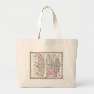 Vintage Map of Chicago and St. Louis (1855) Bag