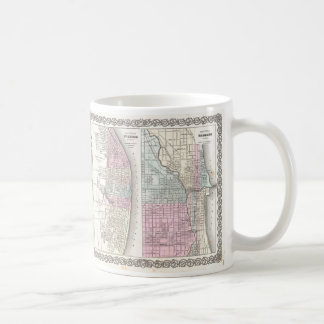 Vintage Map of Chicago and St. Louis (1855) Coffee Mug