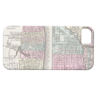 Vintage Map of Chicago and St. Louis (1855) iPhone SE/5/5s Case