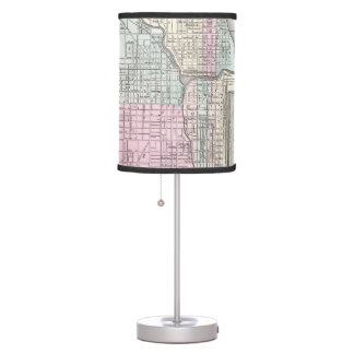 Vintage Map of Chicago and St. Louis (1855) Table Lamp