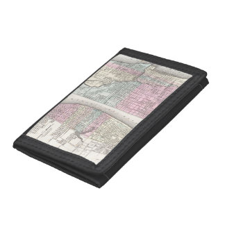 Vintage Map of Chicago and St. Louis (1855) Wallet