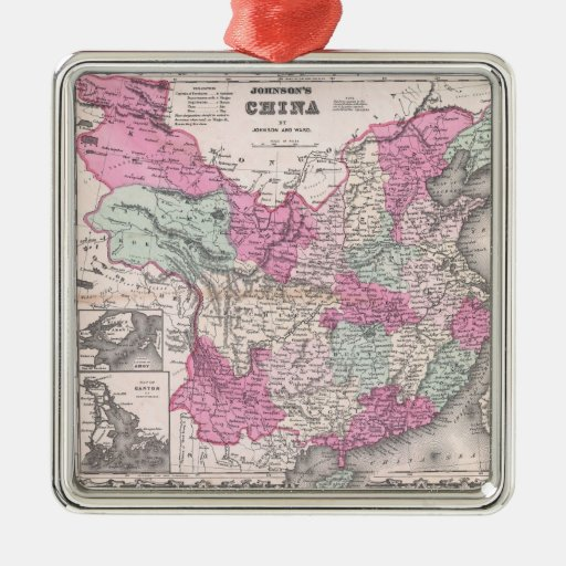 Vintage Map of China (1862) Christmas Ornament
