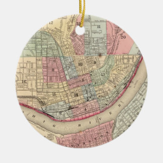 Vintage Map of Cincinnati (1780) Ceramic Ornament