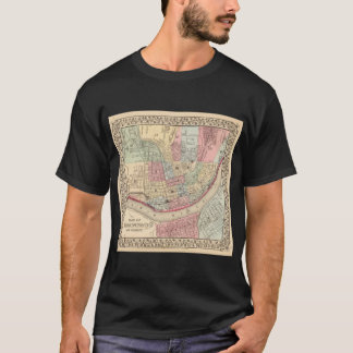 Vintage Map of Cincinnati (1780) T-Shirt