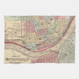 Vintage Map of Cincinnati (1780) Towels