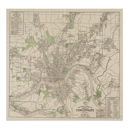 Vintage Map of Cincinnati Ohio (1915) Poster on cincinnati bengals, map of idaho montana wyoming and utah, map denver colorado, map west chester ohio, hamilton county, street map norwalk ohio, map of ohio, cities in hamilton county ohio, map indiana, map toledo ohio, map florida, map memphis tennessee, cleveland ohio, university of cincinnati, map virginia ohio, cincinnati reds, map chicago ohio, map montgomery county ohio, map dayton ohio, map rockford illinois, map kentucky, map wilmington ohio, map hyde park ohio, map kettering ohio, downtown cincinnati, ohio river,
