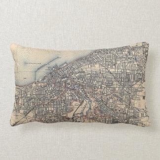 Vintage Map of Cleveland (1904) Lumbar Pillow
