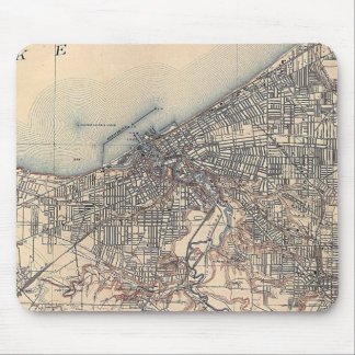 Vintage Map of Cleveland (1904) Mouse Pad