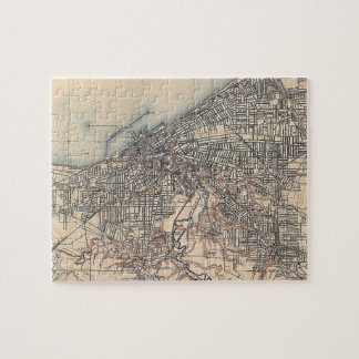 Vintage Map of Cleveland (1904) Jigsaw Puzzles