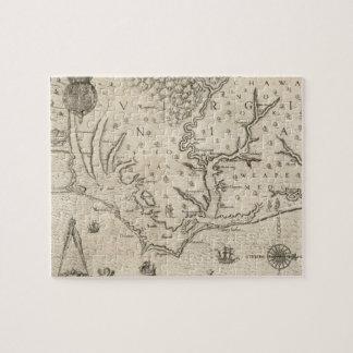 Vintage Map of Coastal North Carolina 1590 Jigsaw Puzzle
