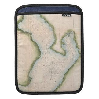 Vintage Map of Coastal Tampa Bay (1855) iPad Sleeve