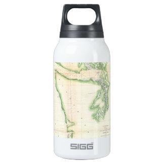 Vintage Map of Coastal Washington State (1857) 10 Oz Insulated SIGG Thermos Water Bottle