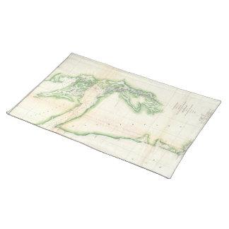 Vintage Map of Coastal Washington State (1857) Cloth Placemat