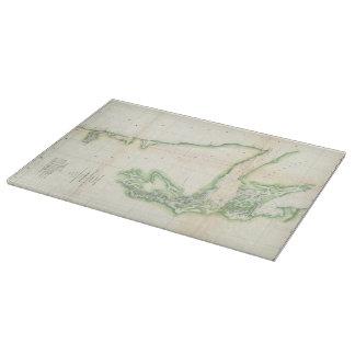 Vintage Map of Coastal Washington State (1857) Cutting Board
