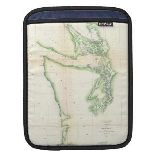 Vintage Map of Coastal Washington State (1857) Sleeve For iPads