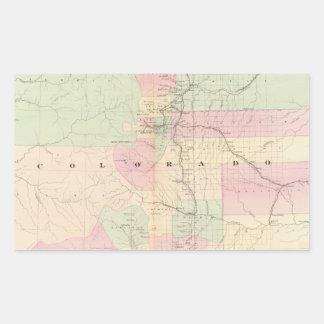 Vintage Map of Colorado (1874) Rectangular Sticker