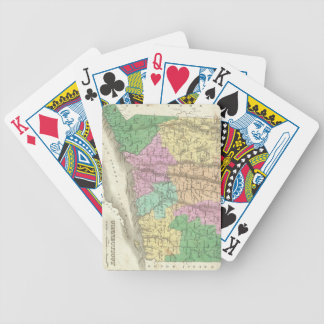 Vintage Map of Connecticut (1827) Bicycle Playing Cards