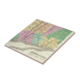 Vintage Map of Connecticut (1827) Ceramic Tile
