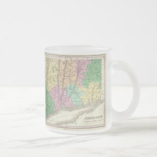 Vintage Map of Connecticut (1827) Frosted Glass Coffee Mug