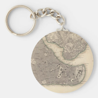 Vintage Map of Constantinople (1840) Keychain