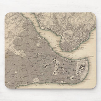 Vintage Map of Constantinople (1840) Mouse Pad