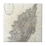 Vintage Map of Corsica (1794) Ceramic Tiles
