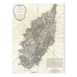 Vintage Map of Corsica (1794) Postcard