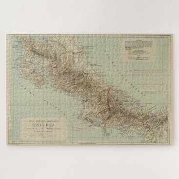 Vintage Map of Costa Rica (1896) Jigsaw Puzzle