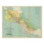 Vintage map of Costa Rica Poster