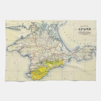 Vintage Map of Crimea 1922 Hand Towel