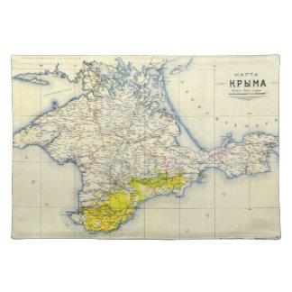 Vintage Map of Crimea 1922 Placemat