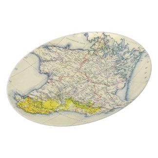Vintage Map of Crimea 1922 Plates