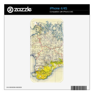 Vintage Map of Crimea (1922) Decal For iPhone 4
