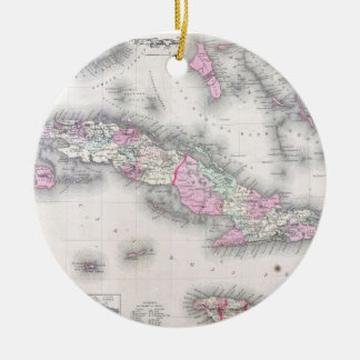 Vintage Map of Cuba (1861) Christmas Ornament