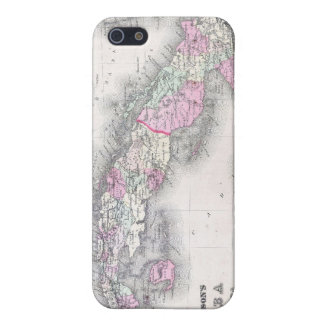 Vintage Map of Cuba (1861) Covers For iPhone 5