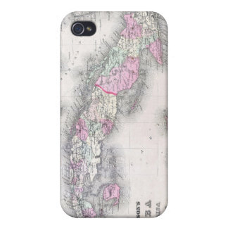 Vintage Map of Cuba (1861) iPhone 4/4S Cases