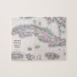 Vintage Map of Cuba (1861) Jigsaw Puzzle