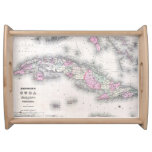 Vintage Map of Cuba (1861) Serving Tray