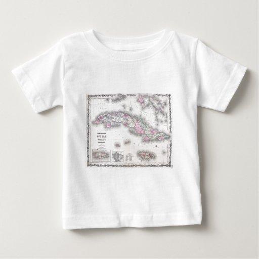 Vintage Map of Cuba (1861) Shirt