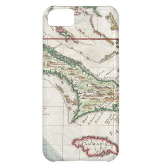 Vintage Map of Cuba and Jamaica (1763) iPhone 5C Cover