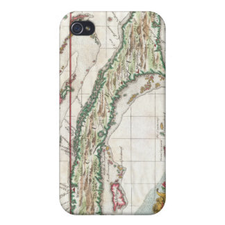 Vintage Map of Cuba and Jamaica (1763) iPhone 4 Cover