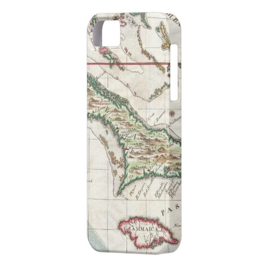 Vintage Map of Cuba and Jamaica (1763) iPhone SE/5/5s Case