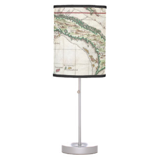 Vintage Map of Cuba and Jamaica (1763) Desk Lamps