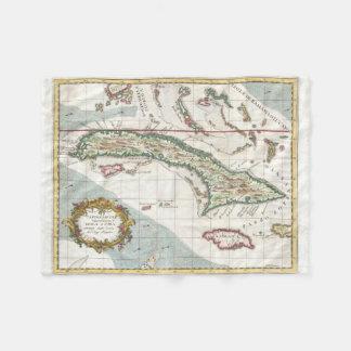 Vintage Map of Cuba and Jamaica (1763) Fleece Blanket