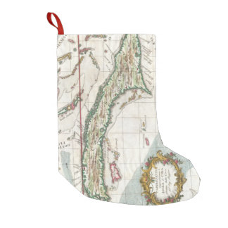 Vintage Map of Cuba and Jamaica (1763) Small Christmas Stocking