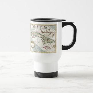 Vintage Map of Cuba and Jamaica (1763) Travel Mug