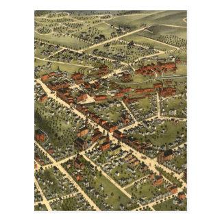 Vintage Map of Danbury Connecticut (1875) Postcard