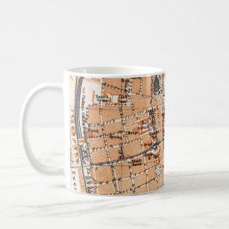 Vintage Map of Darmstadt Germany (1905) Coffee Mug