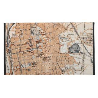 Vintage Map of Darmstadt Germany (1905) iPad Case