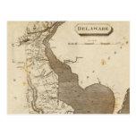 Vintage Map of Delaware (1804) Post Card